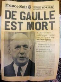 France soir de gaulle est mort.jpg